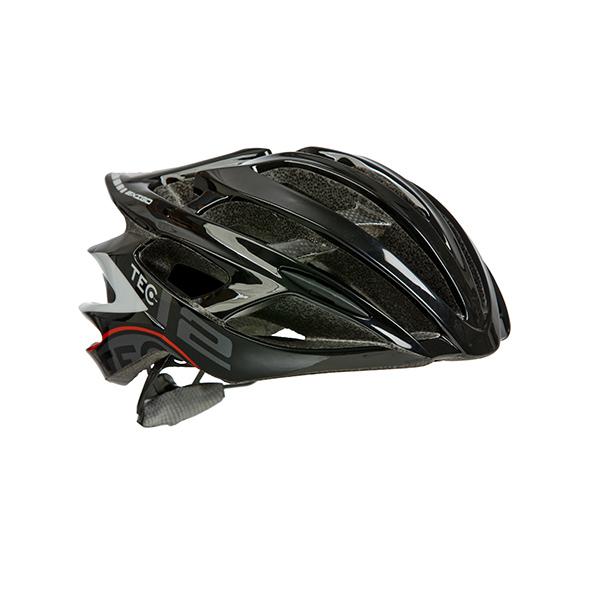 Racer och mountainbike hjälm från Tec med det nya skyddet som reducerar skadan och kallas för mips.