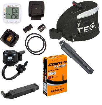 Stora Racer MTB paketet Continental, Sigma, Tec, Cateye Lezyne