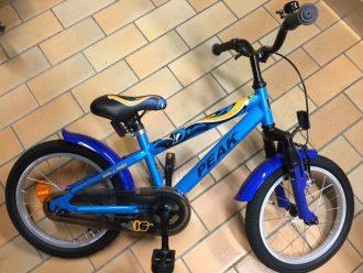 Fräck barncykel från peak i läckert blå