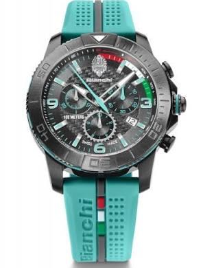Bianchi chrono 43mm celeste