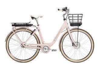 crescent elcykel med modellnamn elina ljusrosa 2020