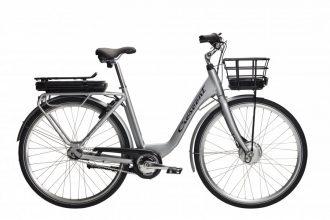 Crescent elina elcykel med ny design på pakethållare och korg