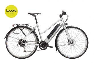 crescent elly 10-vxl sport cykel med koppla light silver 2020