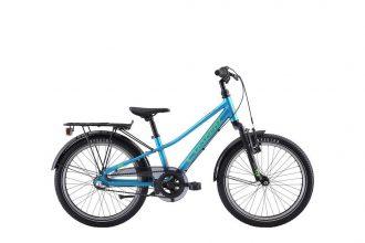 barncykel från Crescent med långa skärmar och pakethållare och 3-vxl