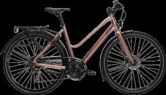 Fullt utrustad sportcykel vid namn Holma med heltäckande kedjeskydd och 24-vxl från crescent i rose, vit eller svart