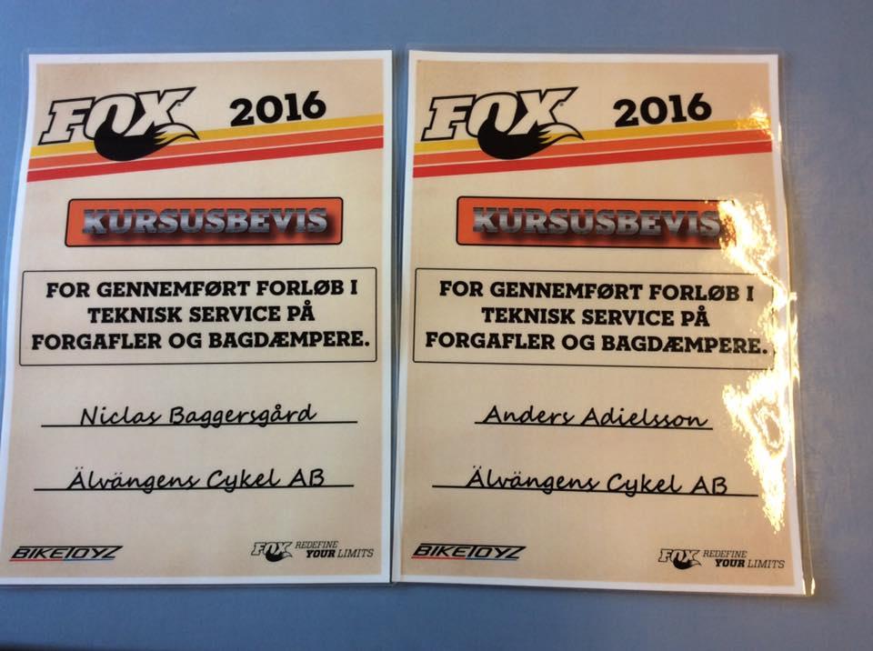 Nu gör vi även Service på Fox fram och bakdämpare