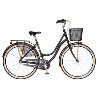 Monark damcykel med en ny ram som är i aluminium och den är dessutom fullt utrustad.