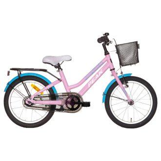 Flick cykel från peak i en snygg rosa färg med korg